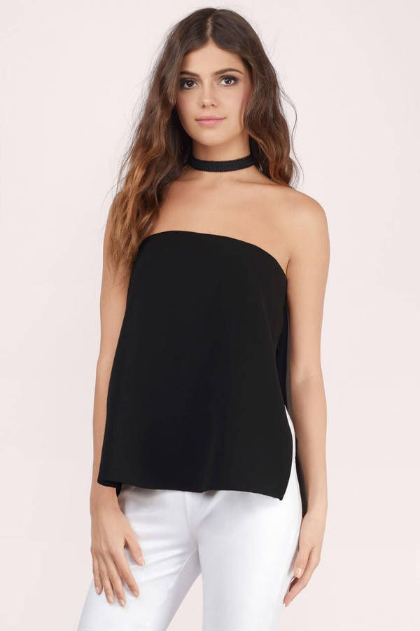 c2a4960cd The Farah Strapless Top is a must-have piece. This long line tube top shows  just the right amount of skin with its high slit sides.