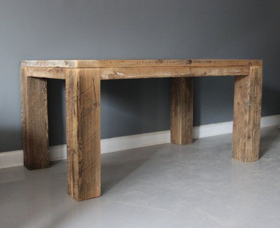 Table Dining Table Reclaimed Wood Parsons Style Base Free Shipping Lifetime