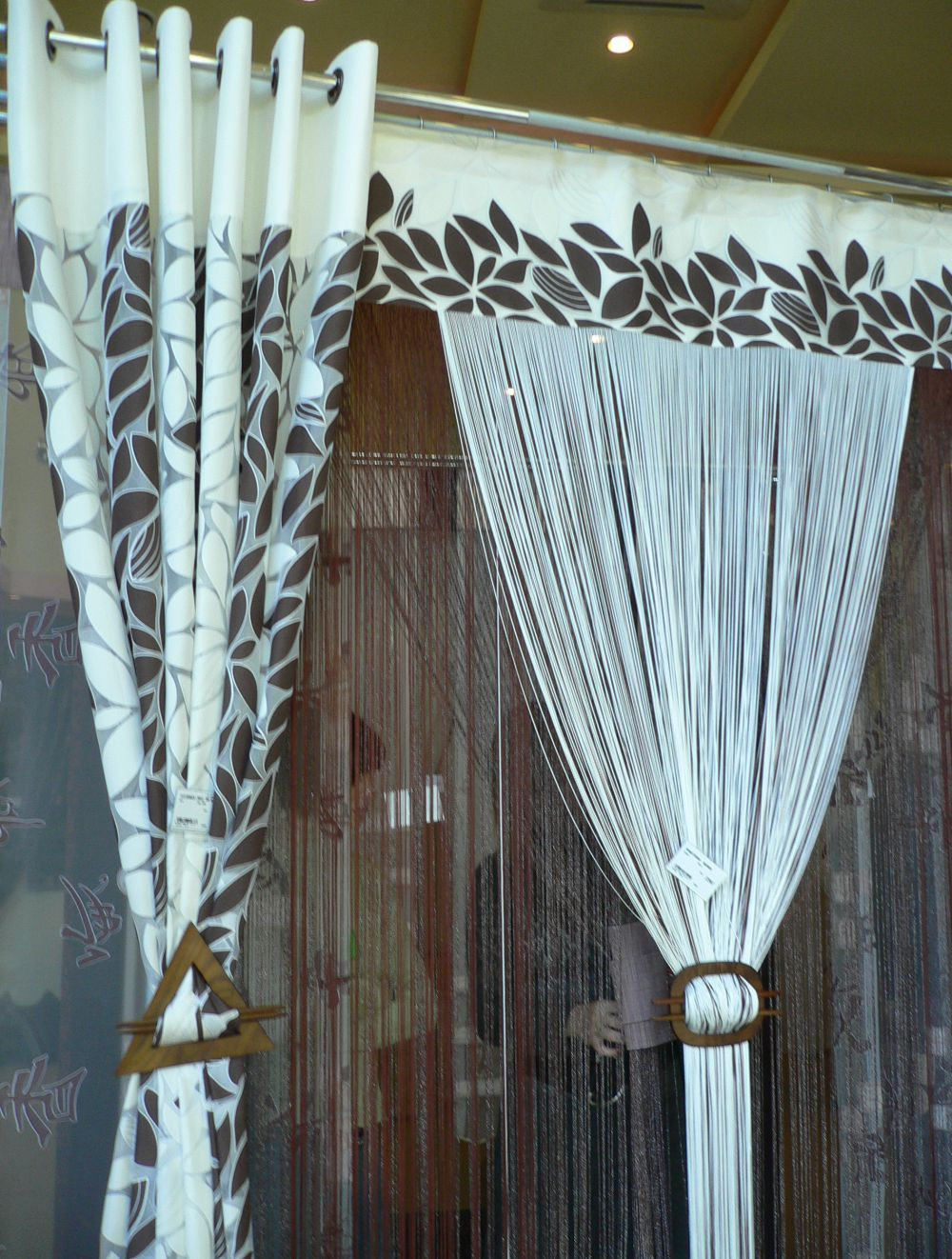 triangle holdback Window toppers, Drapery, Curtains