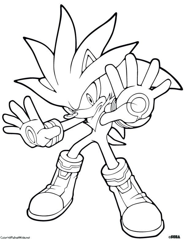 silver the hedgehog coloring to print Bing Images Sonic