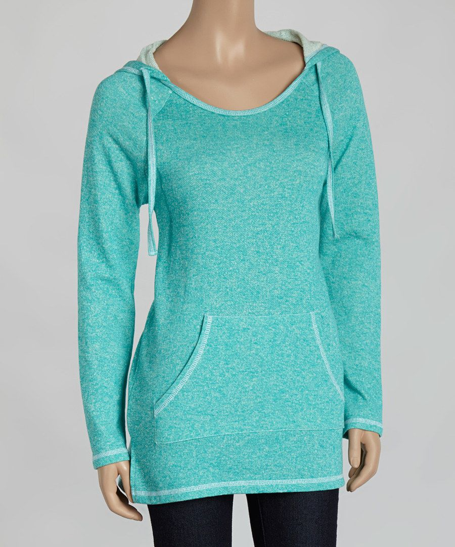 Look at this Peacock Pocket Pullover Hoodie on #zulily today!