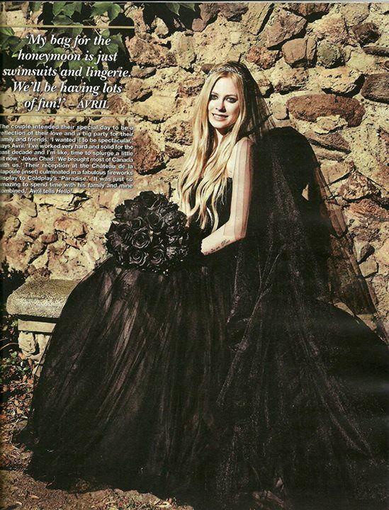 Avril Lavigne Black Wedding Dress Chavrilwedding Celebrities