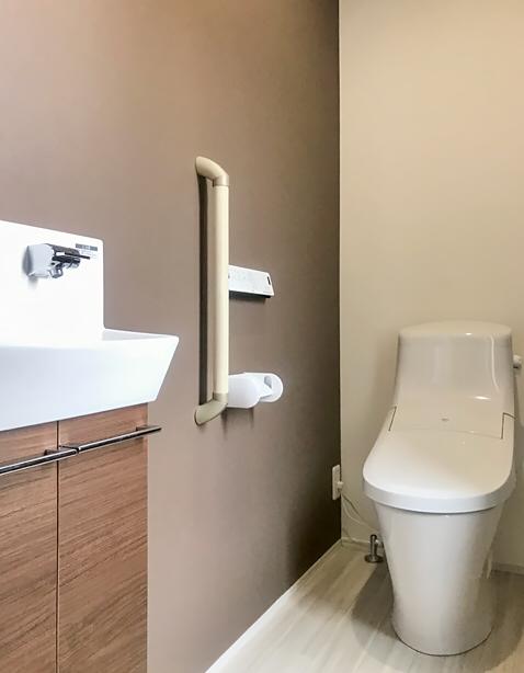 Lixil トイレ トイレ手洗い キャパシア 施工イメージ 0 75坪 手洗器一体型2 Lixil トイレ トイレ おしゃれ リビング キッチン