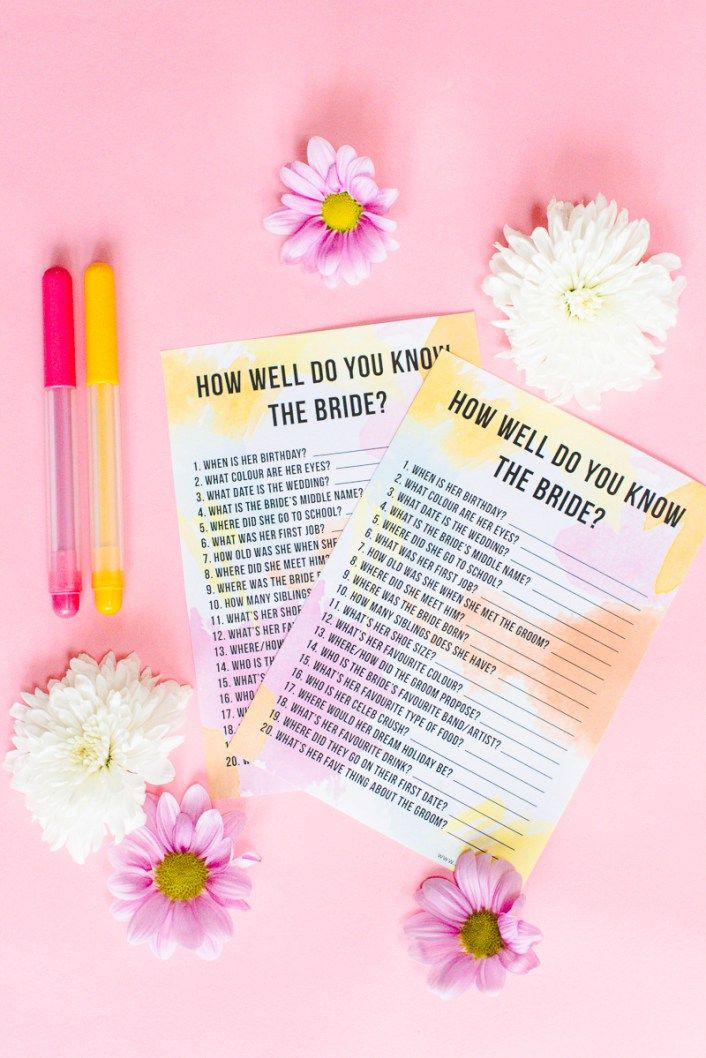 Free printable how well do you know the bride hen party bridal free printable how well do you know the bride hen party bridal shower game m4hsunfo