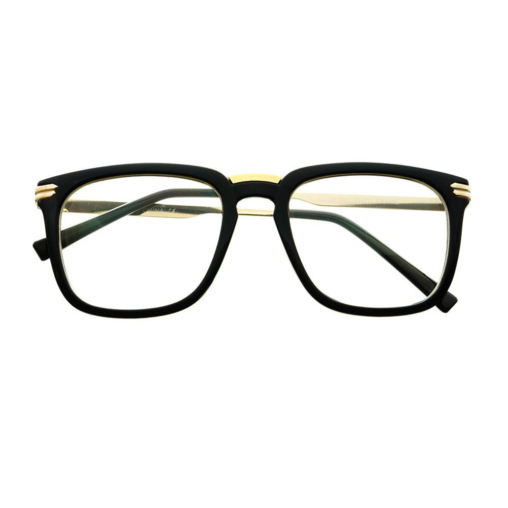 Vintage Style Keyhole Clear Lens Wayfarer Eyeglasses Frames W1690 ...