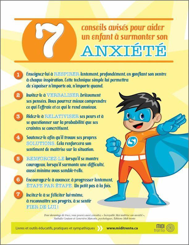 Conseils pour aider un enfant à surmonter son anxiété