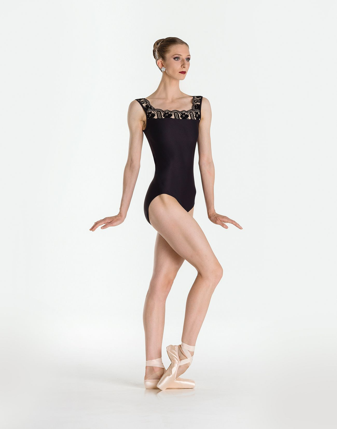 b29c98b569d6 ARLETTY - This tank style fashion leotard shows off the chic detail ...