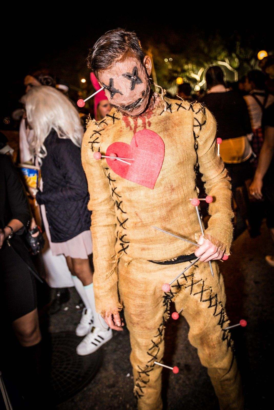 Woah, crazy voodoo doll! :: The best costumes spotted at the West Hollywood Halloween Carvaval #halloween #halloweencostumesmen