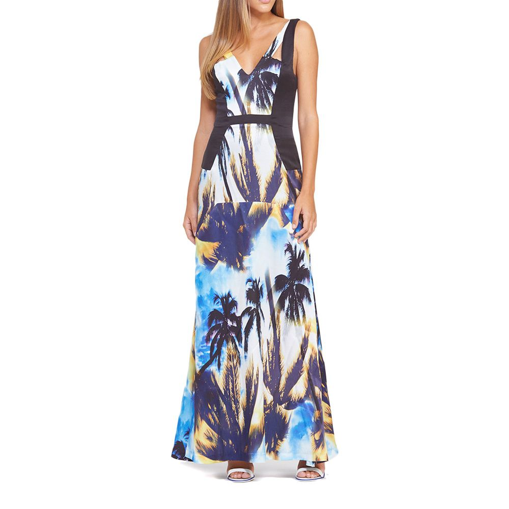 Palm Print Double Strap Maxi | Palm Print by Suboo on Brands Exclusive