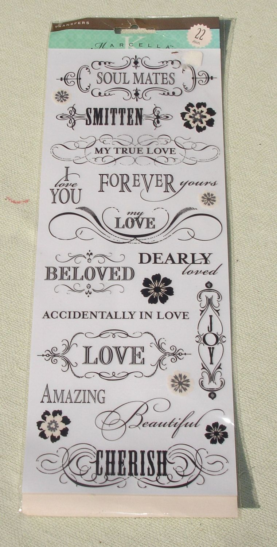 K & Co Forever Love Stickers - 22 pcs - Wedding Themed Embellishment
