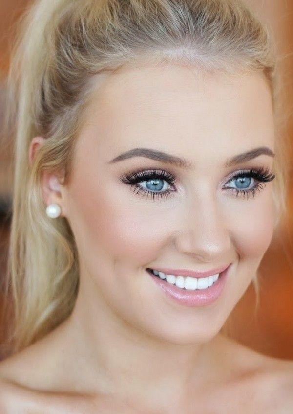 Hochzeits-Makeup-Tutorial für blaue Augen - Beauty Tips und Tricks #typesofhairstyles