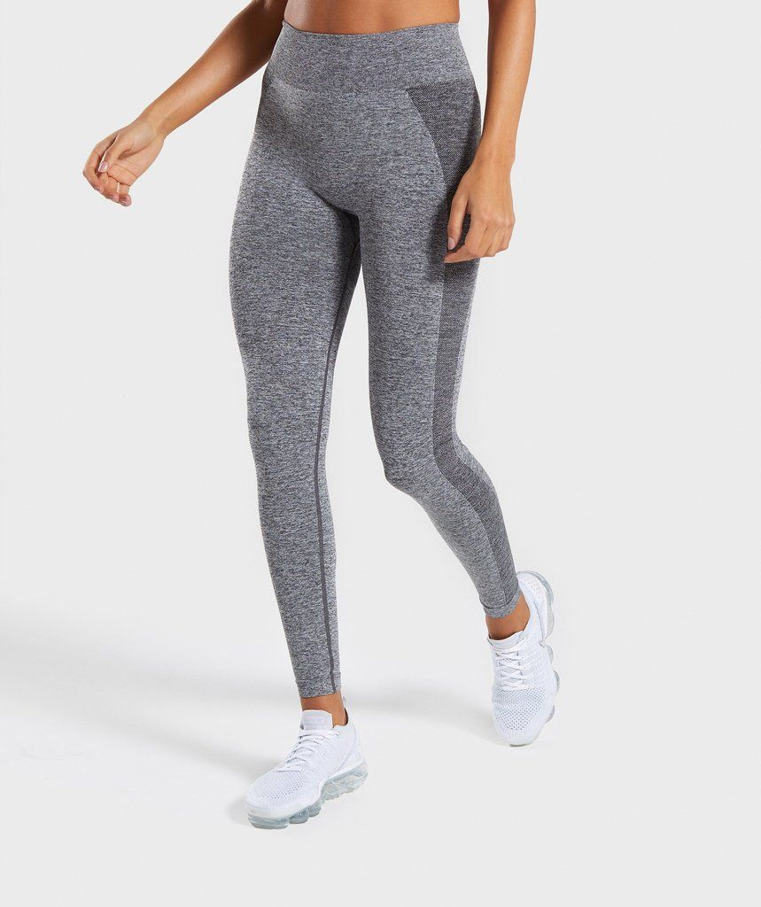 007da3389665a Gymshark Flex High Waisted Leggings - Grey/Pink in 2019 | Fitness ...