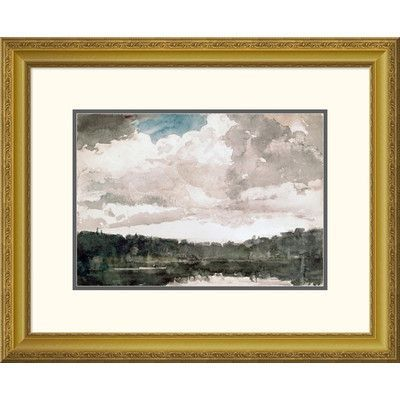 """Global Gallery 'Lone Boat, North Woods Club, Adirondacks' by Winslow Homer Framed Painting Print Size: 21.25"""" H x 26"""" W x 1.5"""" D"""