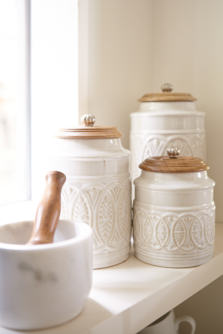 Ivory Farmhouse Canisters Farmhouse canisters, Kitchen