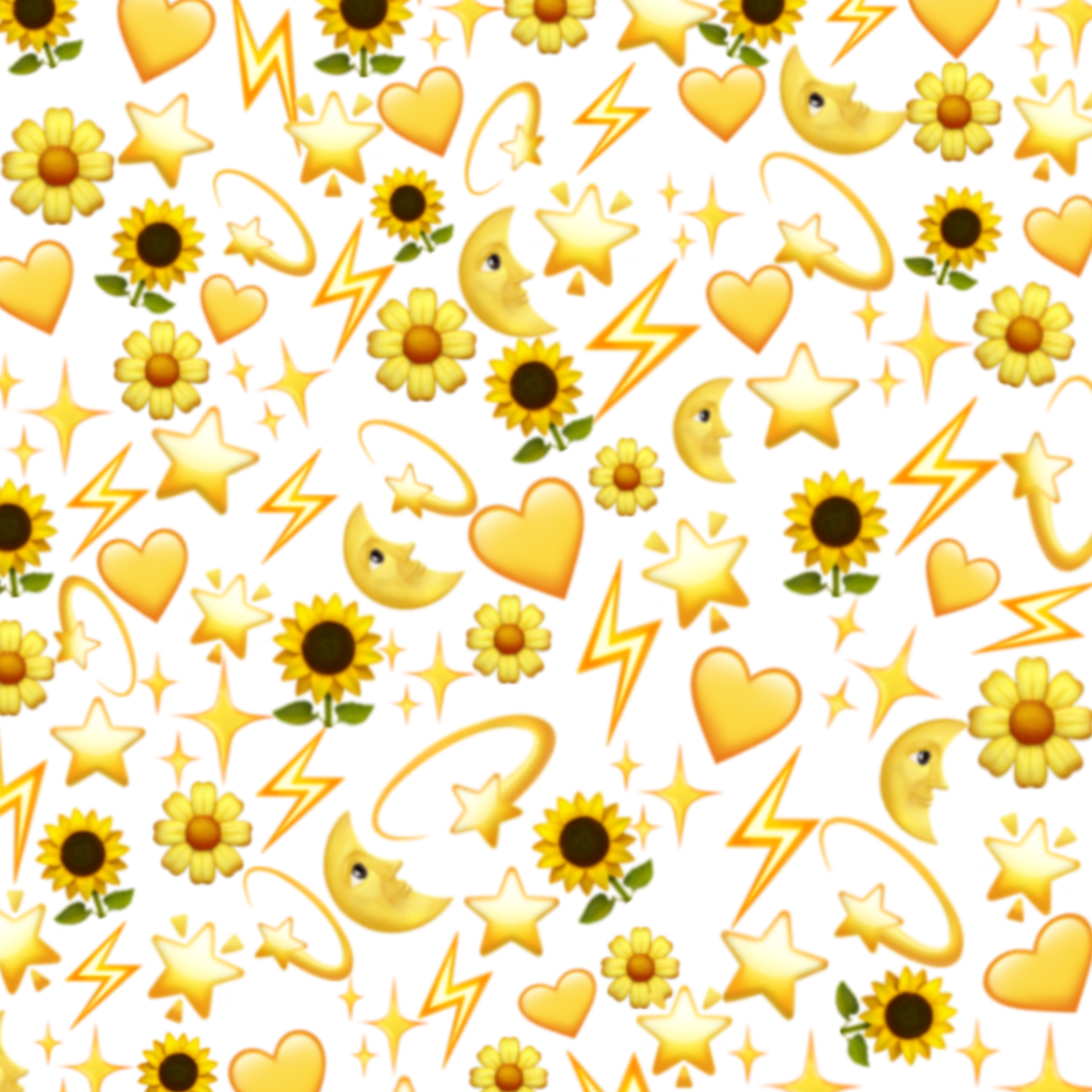 Freetoedit Yellow Black Moon Sunflower Aesthetic Background Remixed From Melissacamilo1 Cute Emoji Wallpaper Emoji Wallpaper Iphone Emoji Backgrounds