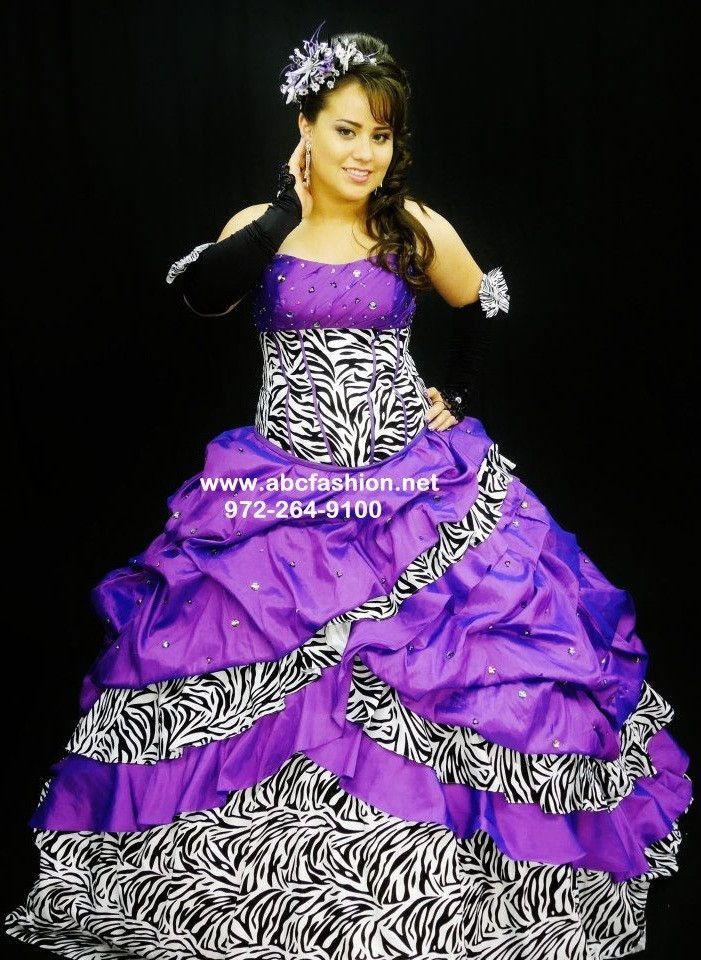 Dorable Vestido De Boda Estampado De Cebra Inspiración - Vestido de ...