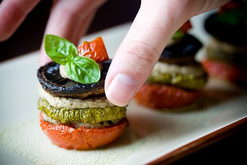 miniature napoleons w/ eggplant creme • veganyumyum