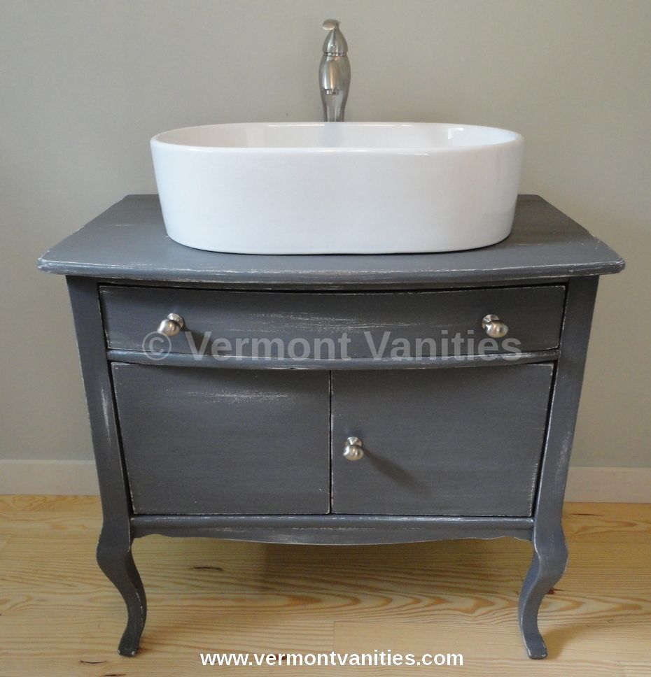 We Meticulously Restore Refinish And Upcycle Quality Dressers Into Vessel Sink Vanities Www Vermontvanities Com Baden Zimmer