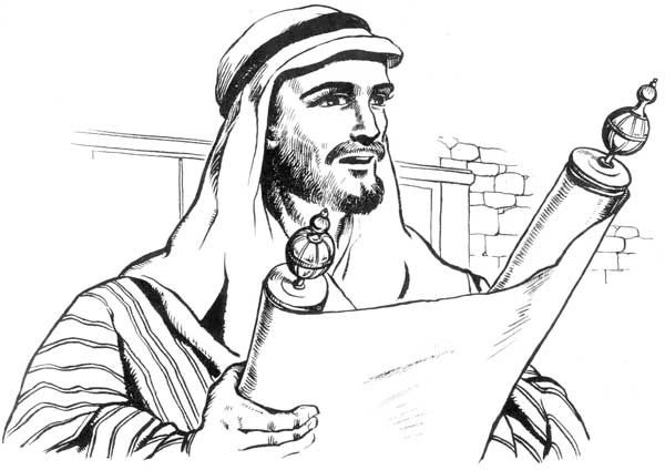 Reading A Scroll Christian Coloring Bible Coloring Pages