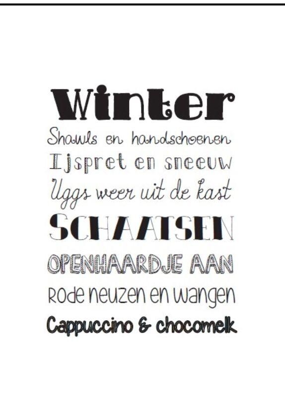 winter spreuken Pin van Ariënne Rosendaal op Winter⛄   Winter, Spreuken en Teksten winter spreuken