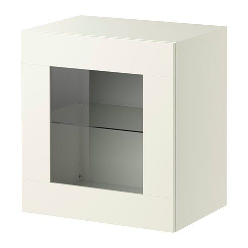 BESTÅ Hylly + vitriiniovi - valkoinen  - IKEA suna, väisänen