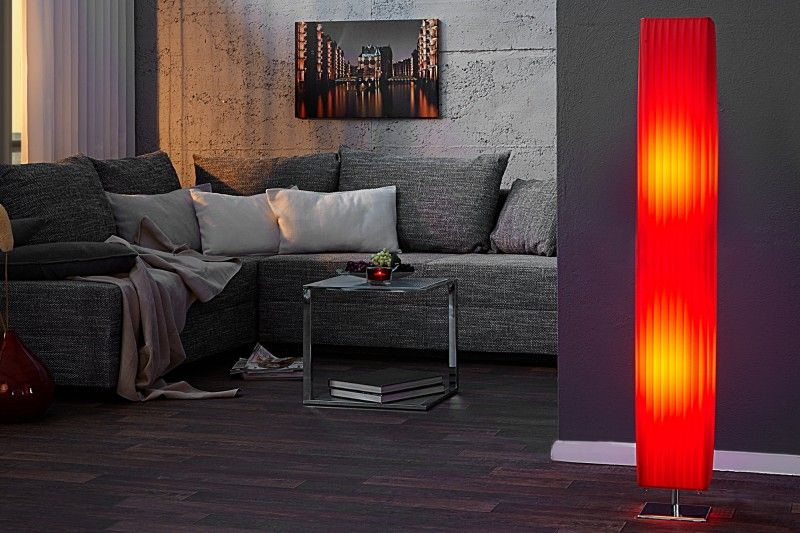 Qubo-Design Stehlampe HELENA Rot 120cm jetzt auch in modernen