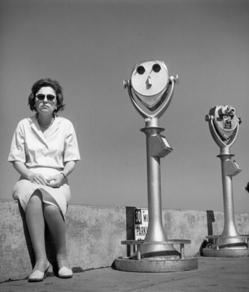 san francisco, 1964 • arthur tress- a woman with two aliens!