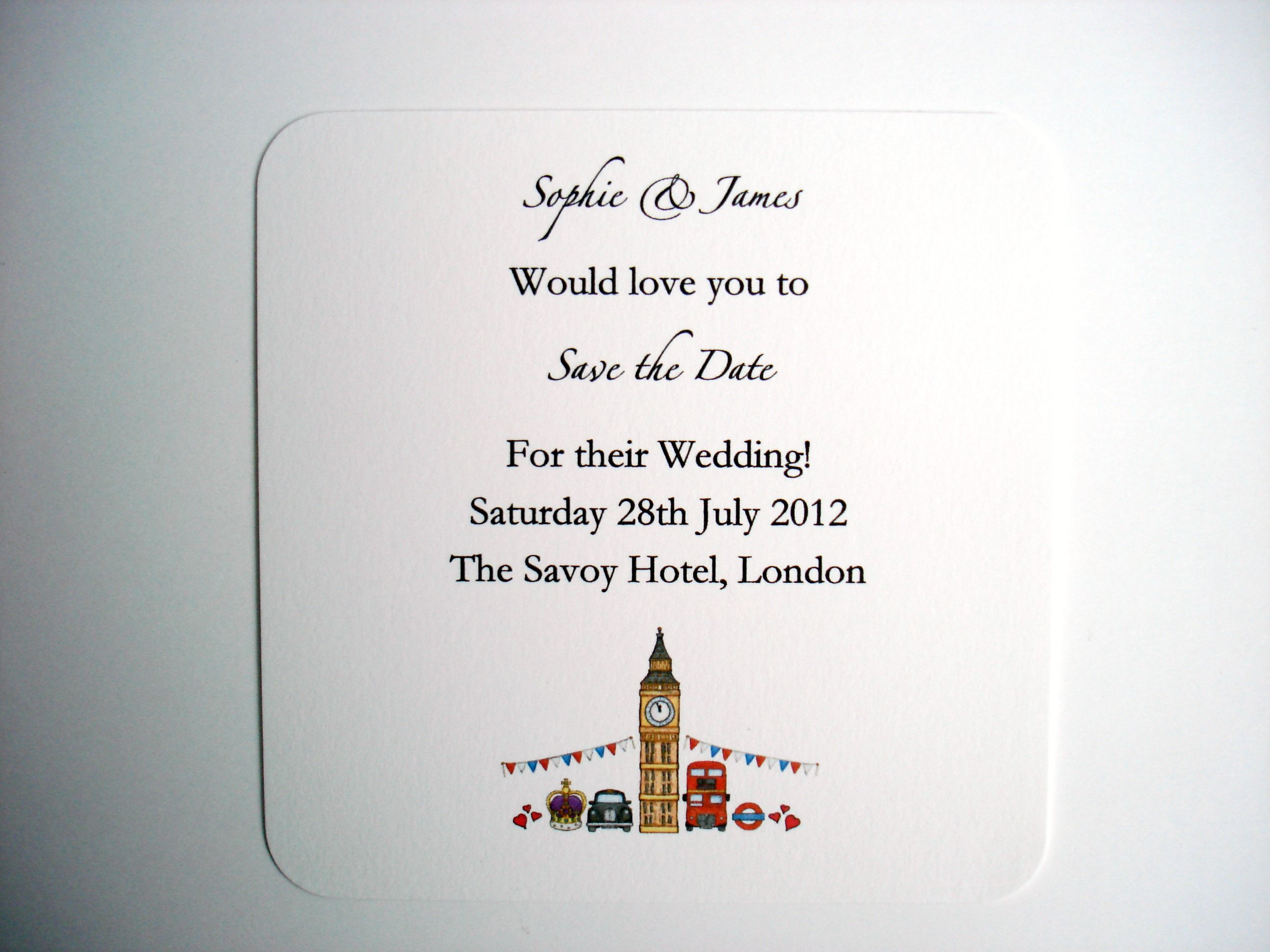 Save Date Cards London Theme