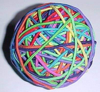 This gave me an idea (: get one of those plastic containers out of quarter machine put money inside and then put a ton of rubber bands to make a rubber band ball! Lol make them work for the money :p