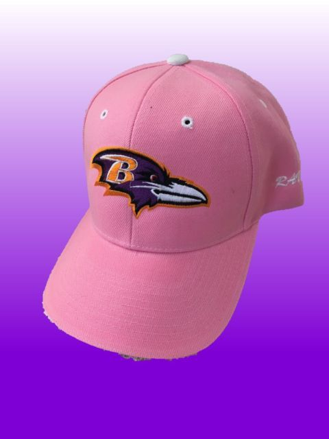 premium selection 614c1 6382f Baltimore Ravens NFL Adjustable Baseball Cap Hat Pink Breast ...