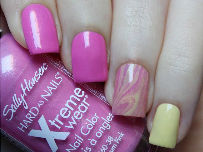 Sally Hansen №470 Bubblegum Pink. #nails #polish #nailpolish #instanails #nailstagram #nailblogger #naillaquer #manicure #lacquer #nail #nailpolishaddict #nailaddict #polishaholic #nailswatch #nailswow #nailgram #nailbeauty #nails2inspire #nailart #SallyHansen #watermarble #beautyillusionblog