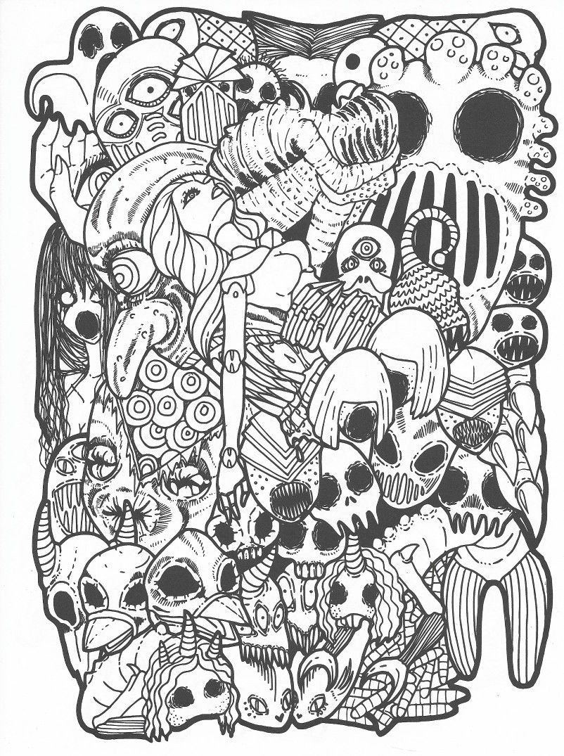 From The Crypt Of Horrors Badass Coloring Pages