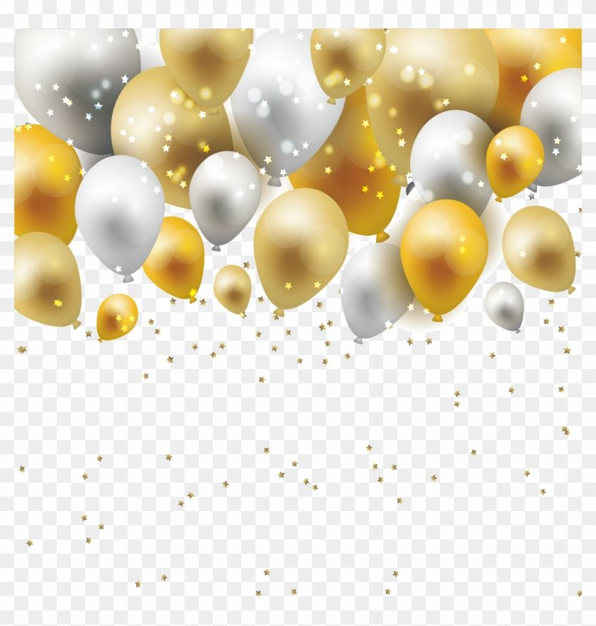 Find Hd Balloon Png Free Download Gold And White Balloon Png Transparent Png Is Free Png Image Download And Use It Fo White Balloons Balloons Gold Balloons