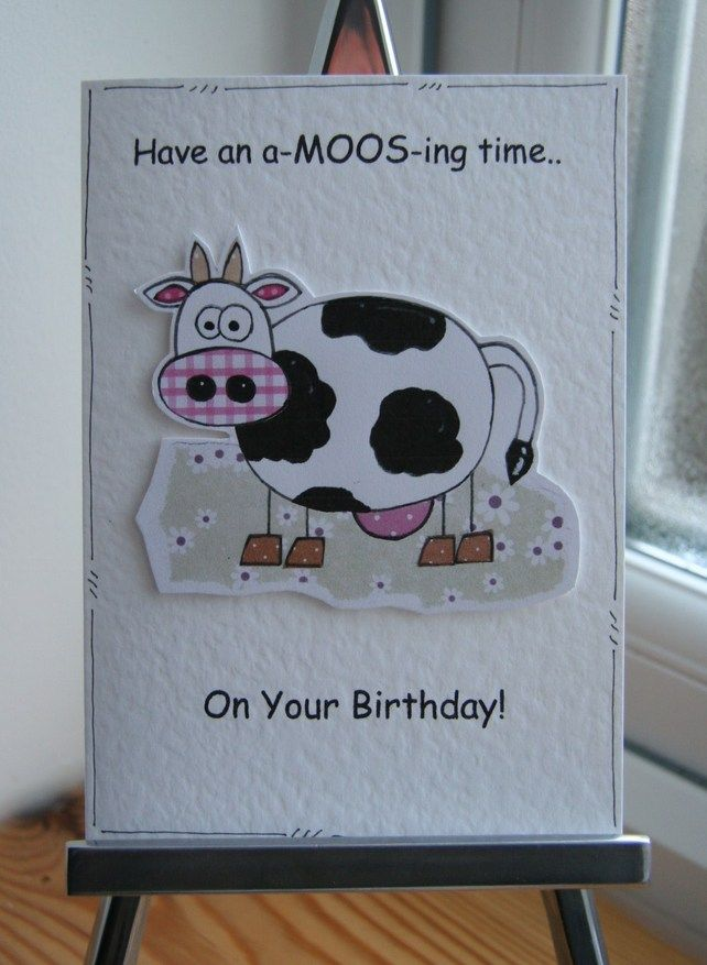 Have an a moosing time cow birthday card by crafty mushroom have an a moosing time cow birthday card bookmarktalkfo Images