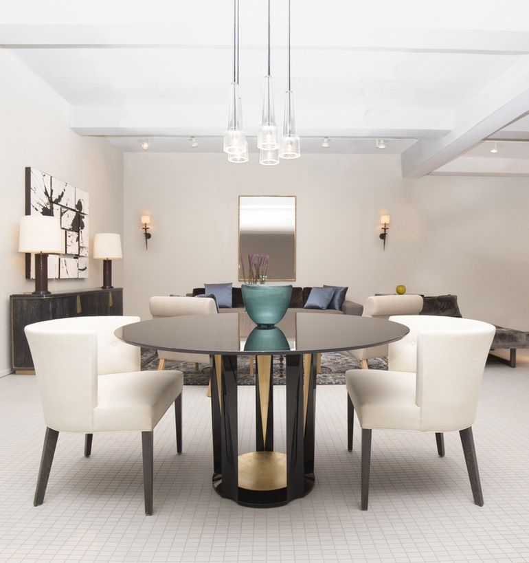 Mid Century Round Dining Rooms: Modern Dining Room Tables, Mid