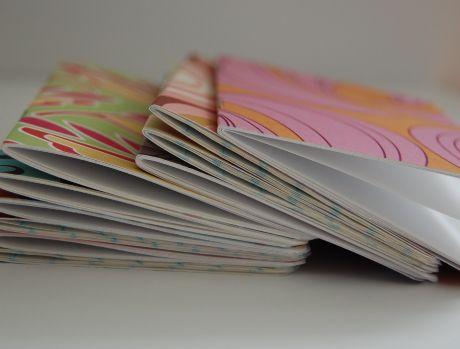 how to make a pocket-sized notebook Libretas, Foco y Papel