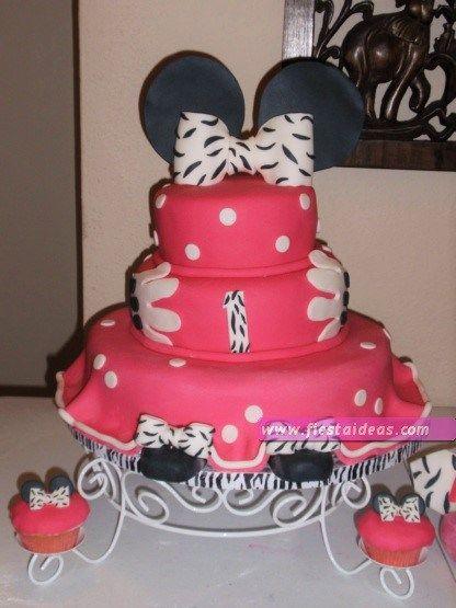15 decoraciones de minnie mouse torta de tres pisos de for Decoracion de pisos