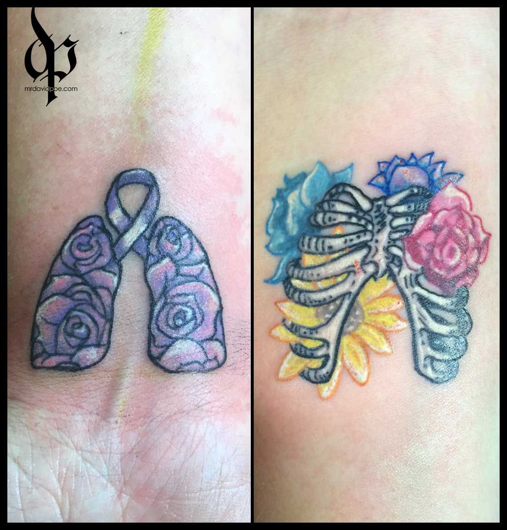 69 Roses Cystic Fibrosis Mrdavidpoe Tattoo Artist Austin
