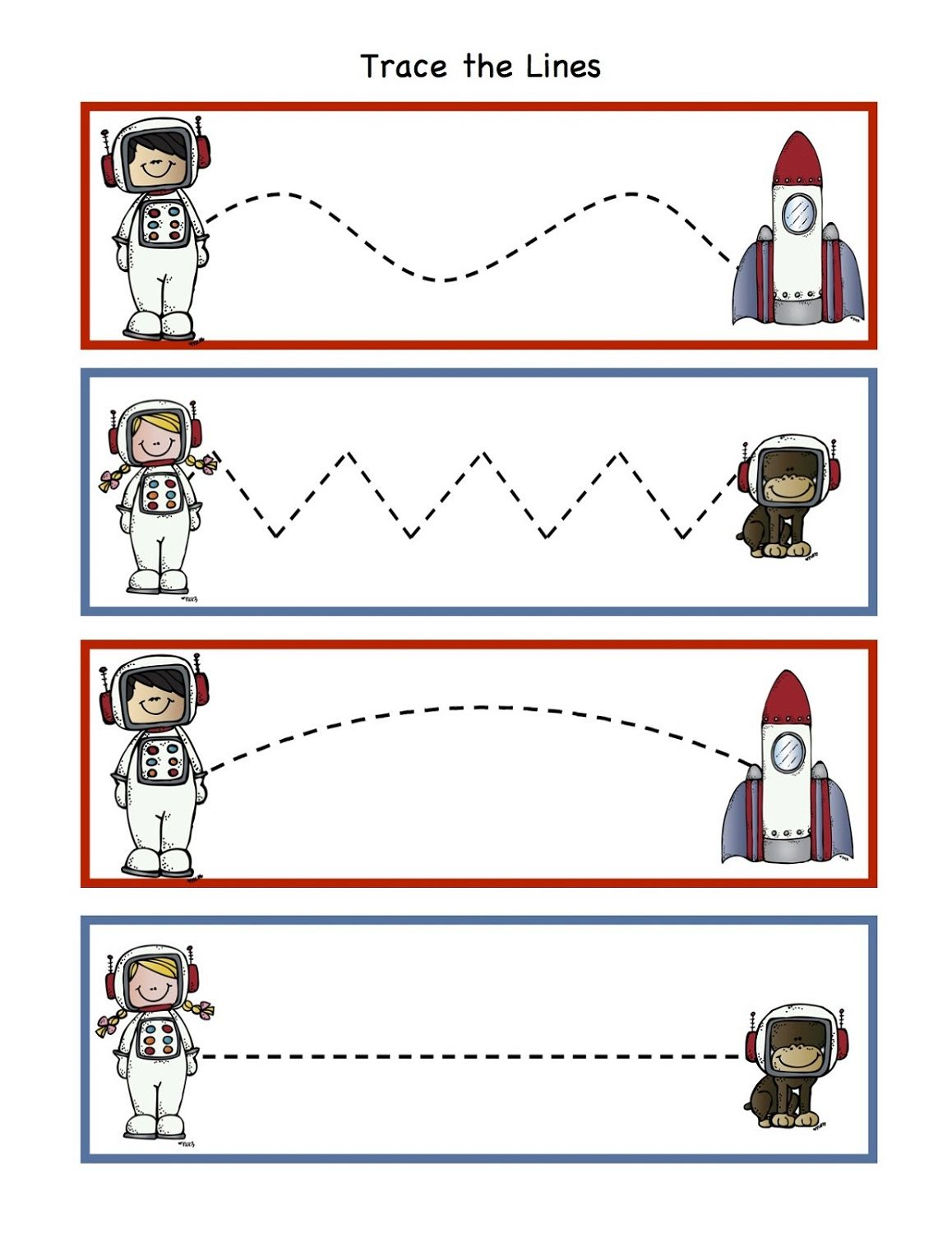 outer space worksheets for kids trace | Space preschool ...