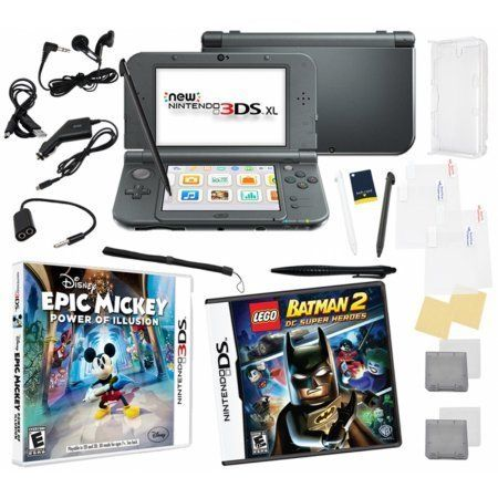 New Nintendo 3ds Xl Bundle With 2 Games And 17 In 1 Kit Juegos Y