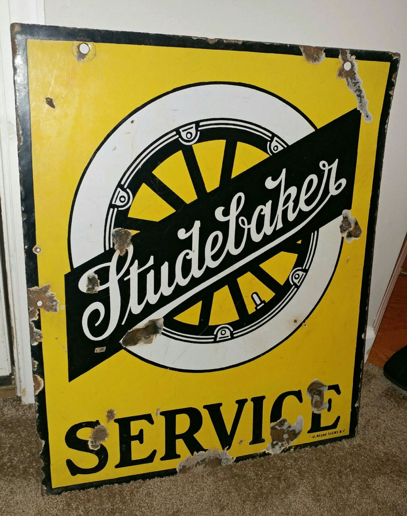 LARGE ANTIQUE VINTAGE STYLE CAST IRON ADVERTISING SIGN *LAND ROVER* WALL PLAQUE