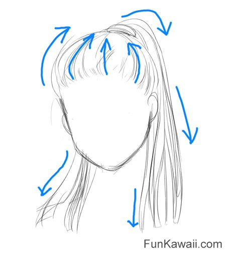 how to draw anime hair women advice think which direction hair flows