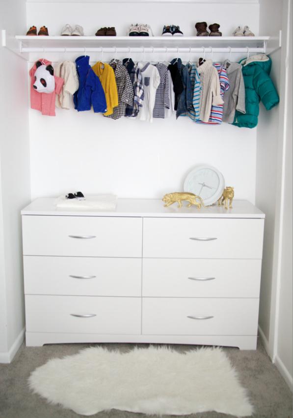 10 Genius Closet Storage Solutions Baby Clothes Storage Storage Solutions Closet Baby Storage