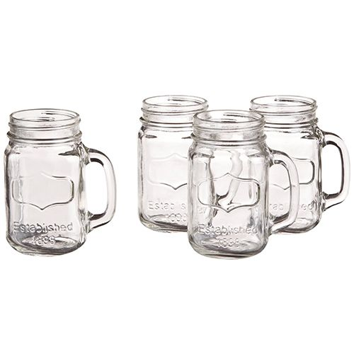 15 Fun Mason Jars In All Shapes Sizes And Colors Mason Jar Mugs Mason Jars Mason Jar Mug
