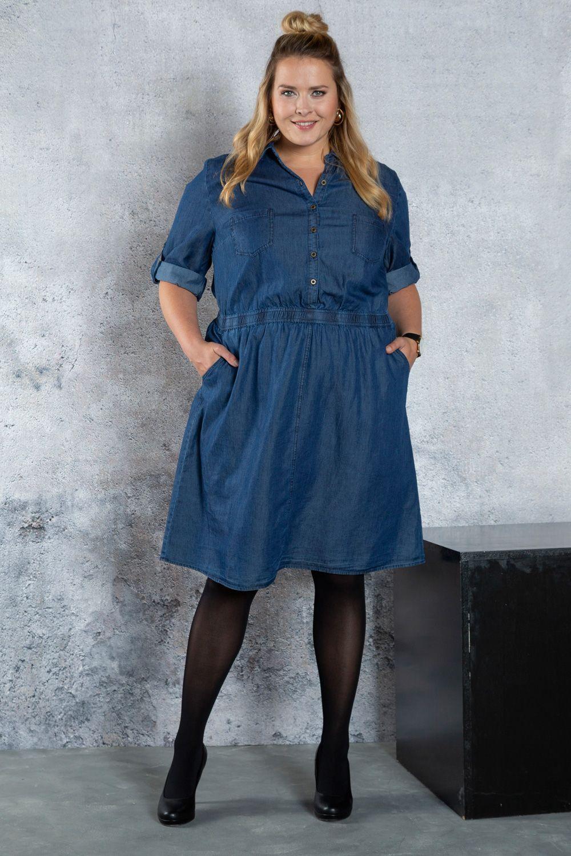 601e33749124de #plussize #denim #dress #ullapopken #ootd #jeanskleid Jeanskleid für  kurvige Frauen