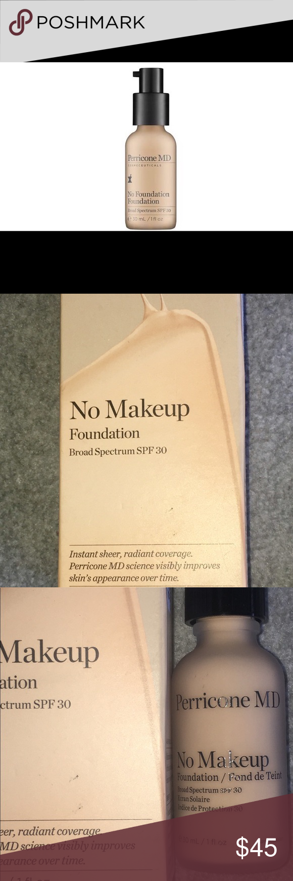 ISO Perricone MD no make up foundation. Light NWT