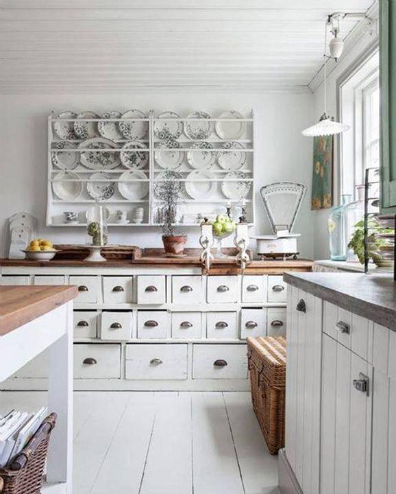 30 Ways To Upgrade Your Rental Apartment Shabby Chic Kitchen Cabinets Shabby Chic Kitchen Decor Shabby Chic Kitchen