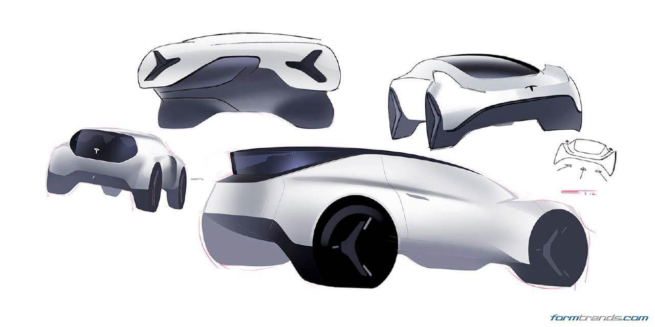 Tesla Porsche Peugeot And Hyundai Concepts By Art Center Grad Edward Tseng Car Design Automotive Design Car