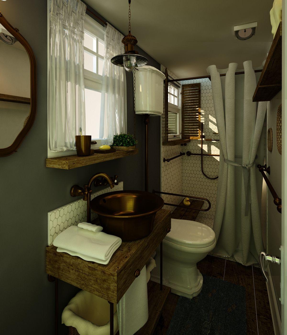 Small Rustic Bathroomkasia Mccloskey 7082097506  Designed Interesting Small Rustic Bathrooms Inspiration Design