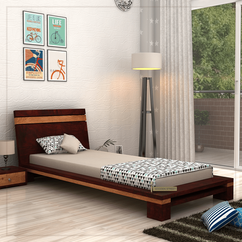 Buy Melisandre Single Bed Mahogany Finish Online In India Single Bed Bed Bedroom Furniture
